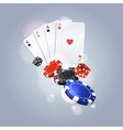 poker background with playing cards chips and vector image vector image