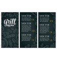 restaurant or cafe menu bbq with price grill menu vector image vector image