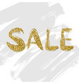 sale design gold letters vector image