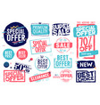 sale labels and stickers collection vector image vector image
