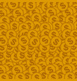 seamless background with golden coins vector image vector image