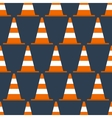 Seamless pattern with cones vector image