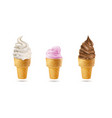 set colored milk ice creams 3d vector image vector image