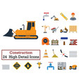 set of 24 construction icons vector image vector image