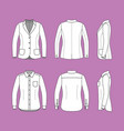 set of a long sleeves shirt and blazer vector image vector image
