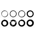 set of hand drawn doodle circle line sketch vector image vector image