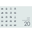 Set of public transportation icons vector image
