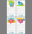 set price labels special promotion web posters vector image vector image