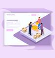 sharing economy isometric web page vector image