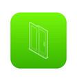 sliding door icon green vector image vector image