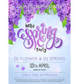 spring party poster with lettering and vector image vector image