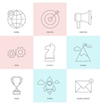 Start up outline icons vector image vector image