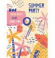 summer festival poster template musical vector image