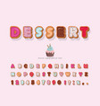 sweet cartoon font decorative colorful letters vector image vector image
