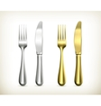 Table knife and fork vector image vector image