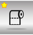 toilet paper black icon button logo symbol vector image vector image