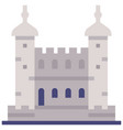 tower of london flat vector image vector image