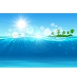 Tropical island in ocean for background design