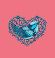 vintage bird label vector image vector image