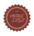 Vintage logo label vector image vector image