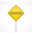 Warning traffic sign vector image vector image