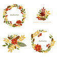 wreath autumn leaves vector image vector image
