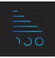 Blue loading bars and spinner vector image