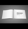 Brochure blank page vector image