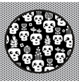 Funny skull pattern with flowers vector image