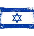 grunge israel flag vector image