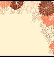 Automn flowersVS vector image vector image