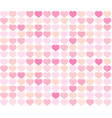 background red and pink hearts vector image vector image
