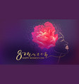 beautiful woman watercolor violet background vector image