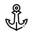 boat anchor icon outline vector image vector image