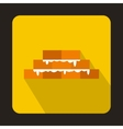 Brick wall icon in flat style vector image vector image