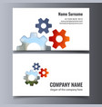 business card template creative corporate vector image vector image