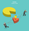 business competition flat isometric concept vector image vector image