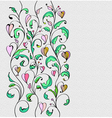 card with colorful flowers vector image vector image