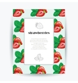 card with strawberries and place for your vector image vector image
