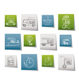 cargo and shipping icons vector image vector image