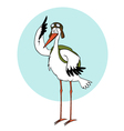 cartoon stork vector image
