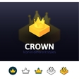 Crown icon in different style vector image