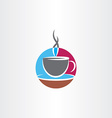 cup of coffee icon colorful logo vector image