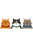 cute flat colorful cat portrait pattern vector image vector image