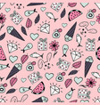 cute hand-drawn seamless pattern vector image vector image