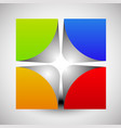 divided colorful cube with rounded inner corners vector image vector image