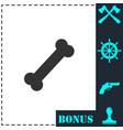 dog bone icon flat vector image vector image