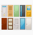 doors set isolated on white background vector image vector image