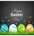 Easter eggs and confetti vector image
