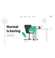 emotional burnout procrastination website landing vector image vector image